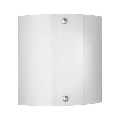 Progress Lighting Progress Modern Sconce Wall Light with White Glass P7093-09EBWB