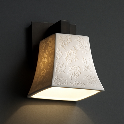 Justice Design Group Justice Design Group Limoges Collection Sconce POR-8921-40-LEAF-DBRZ