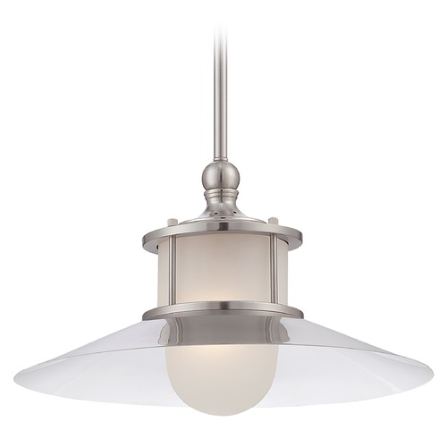 Quoizel Lighting Brushed Nickel Pendant Light NA1514BN