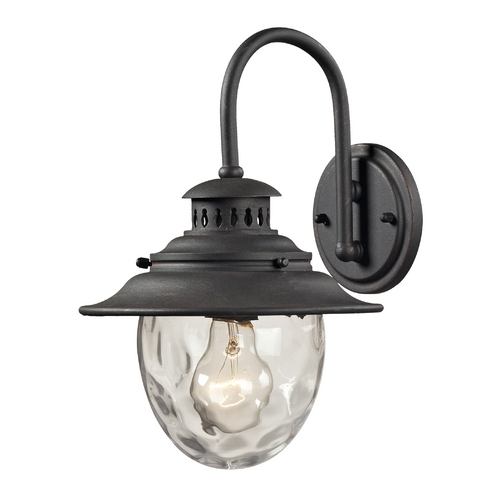 Elk Lighting Outdoor Wall Light with Clear Glass in Weathered Charcoal Finish 45040/1