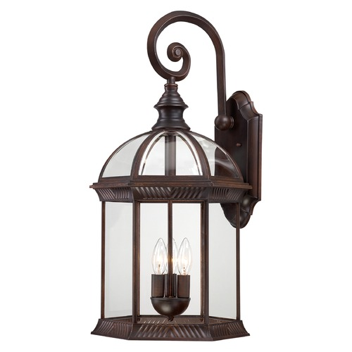 Nuvo Lighting Outdoor Wall Light with Clear Glass in Rustic Bronze Finish 60/4968