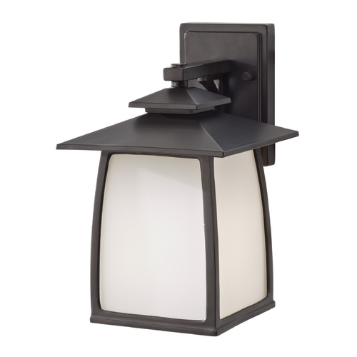 Feiss Lighting Outdoor Wall Light with White Glass in Oil Rubbed Bronze Finish OL8501ORB