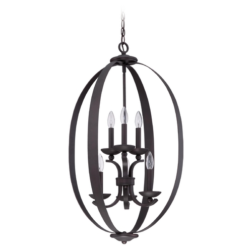 Jeremiah Lighting Jeremiah Lighting Ensley Aged Bronze Brushed Pendant Light 37036-ABZ