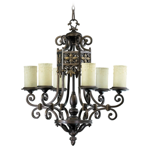 Quorum Lighting Quorum Lighting Marcela Oiled Bronze Chandelier 6131-6-86