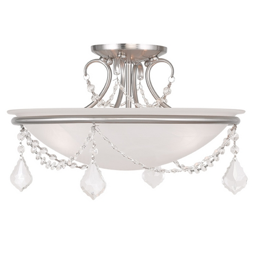Livex Lighting Livex Lighting Chesterfield/pennington Brushed Nickel Semi-Flushmount Light 6524-91