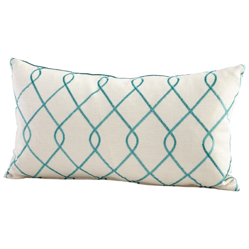 Cyan Design Cyan Design Chain Link Pillow Turquoise / White Pillows & Throw 06541