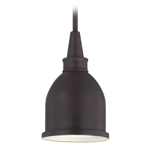 Savoy House Savoy House English Bronze Mini-Pendant Light with Bowl / Dome Shade 7-4131-1-13