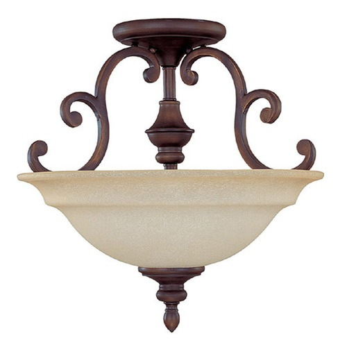 Capital Lighting Capital Lighting Chandler Burnished Bronze Semi-Flushmount Light 3071BB