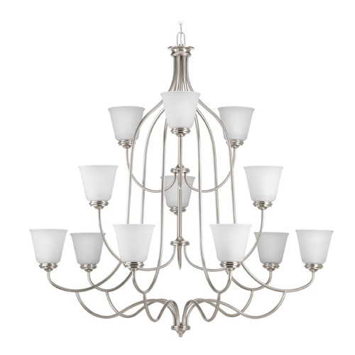 Progress Lighting Progress Lighting Keats Brushed Nickel Chandelier P4752-09