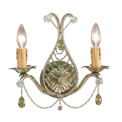 Crystorama Lighting Crystorama Lighting Hot Deal Silver Leaf Sconce 4712-SL