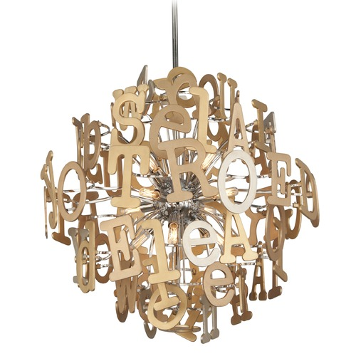 Corbett Lighting Corbett Lighting Media Polished Stainless with Multi-Leaf Pendant Light 208-48