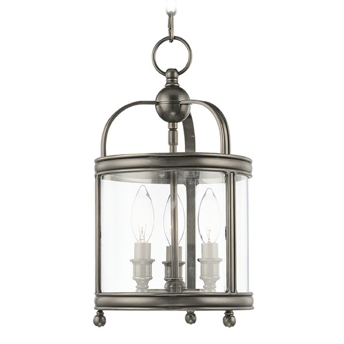Hudson Valley Lighting Mini-Pendant Light with Clear Glass in Historic Nickel Finish 7809-HN