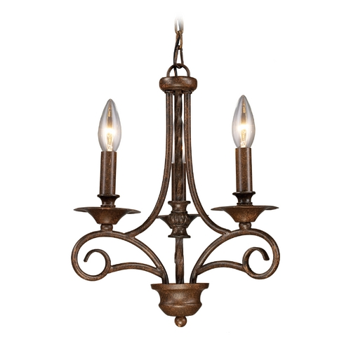 Elk Lighting Mini-Chandelier in Antique Bronze Finish 15041/3