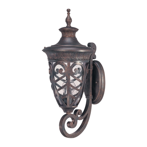 Nuvo Lighting Outdoor Wall Light with Clear Glass in Dark Plum Bronze Finish 60/2053