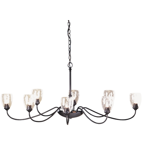 Hubbardton Forge Lighting Eight-Light Oval Chandelier 101309-07-L83