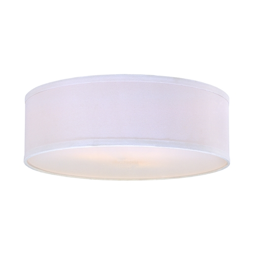 White Linen Drum Lamp Shade Sh7492dif Destination Lighting
