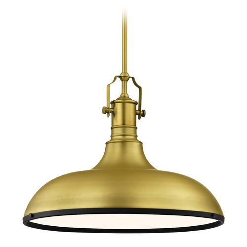Design Classics Lighting Farmhouse Large Pendant Light Brass / Black 18.38-Inch Wide 1765-12 SH1779-12 R1779-07
