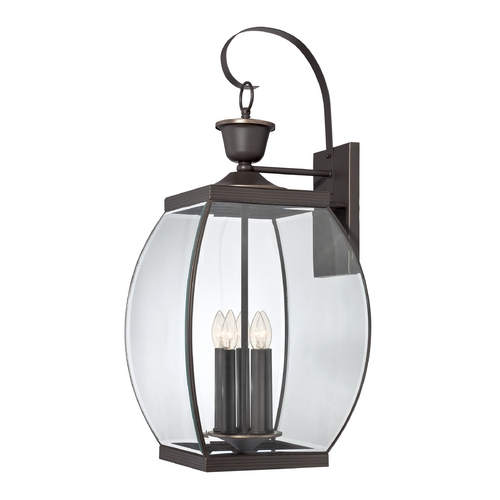Quoizel Lighting Outdoor Wall Light with Clear Glass in Pewter Finish OAS8413Z