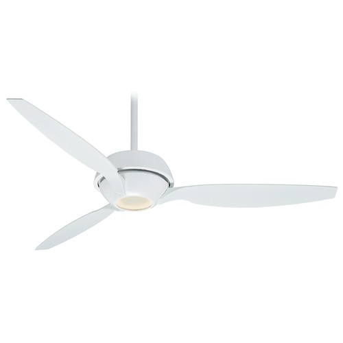 Casablanca Fan Co Casablanca Fan Riello Snow White LED Ceiling Fan with Light 59121