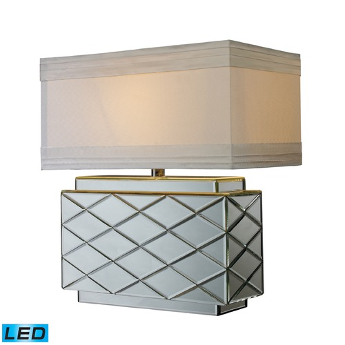 Dimond Lighting Dimond Lighting Mirrored LED Table Lamp with Rectangle Shade D1835-LED