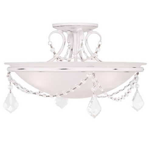 Livex Lighting Livex Lighting Chesterfield/pennington Antique White Semi-Flushmount Light 6524-60