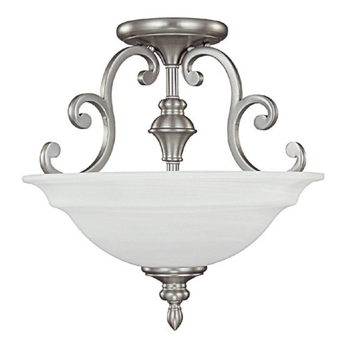 Capital Lighting Capital Lighting Chandler Matte Nickel Semi-Flushmount Light 3071MN