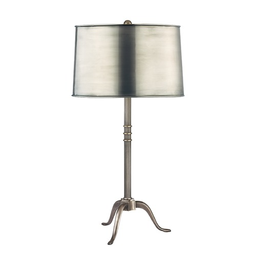 Hudson Valley Lighting Hudson Valley Lighting Burton Aged Silver Table Lamp with Drum Shade L814-AS-M