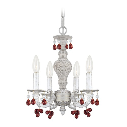 Crystorama Lighting Crystorama Lighting Paris Market Antique White Crystal Chandelier 5224-AW-AMBER