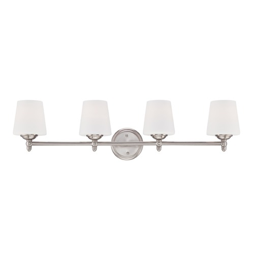 Designers Fountain Lighting Designers Fountain Darcy Brushed Nickel Bathroom Light 15006-4B-35