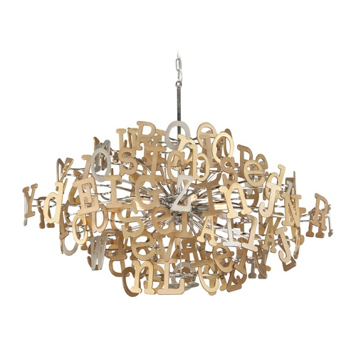 Corbett Lighting Corbett Lighting Media Polished Stainless with Multi-Leaf Pendant Light 208-58