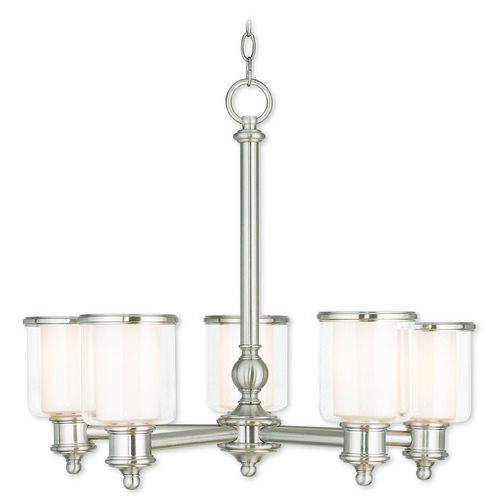Livex Lighting Livex Lighting Middlebush Brushed Nickel Chandelier 40205-91