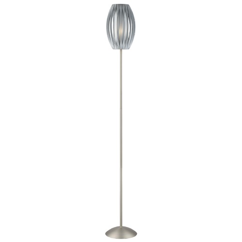 Lite Source Lighting Lite Source Egg Stainless Steel Floor Lamp with Cylindrical Shade LS-8875SS/GREY