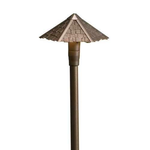 Kichler Lighting Kichler Path Light with White Glass in Bronze Finish 15401AZT