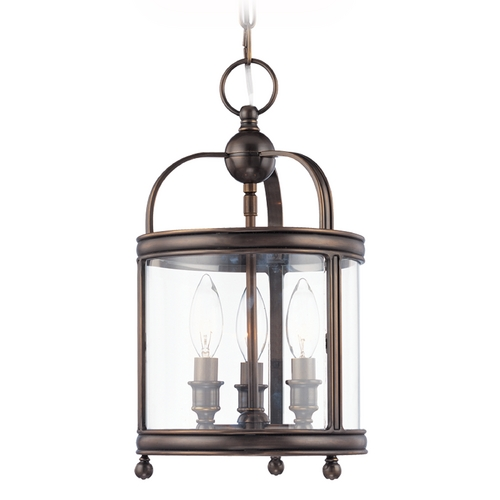 Hudson Valley Lighting Mini-Pendant Light with Clear Glass in Polished Nickel Finish 7809-PN