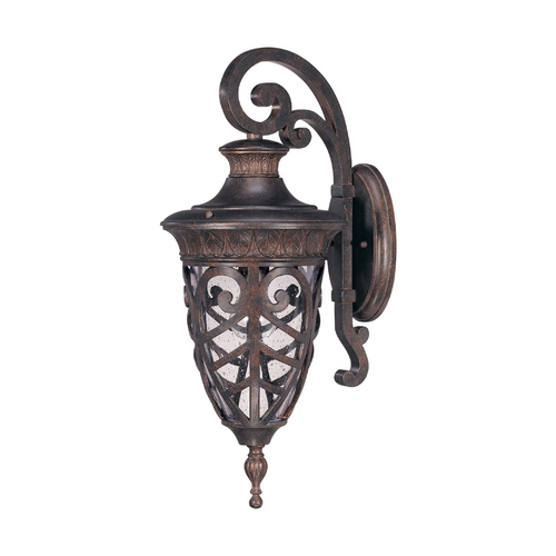 Nuvo Lighting Outdoor Wall Light with Clear Glass in Dark Plum Bronze Finish 60/2054