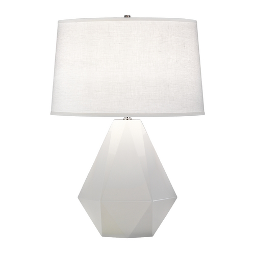 Robert Abbey Lighting Modern Art Deco Table Lamp Lily / Polished Nickel Delta by Robert Abbey 932