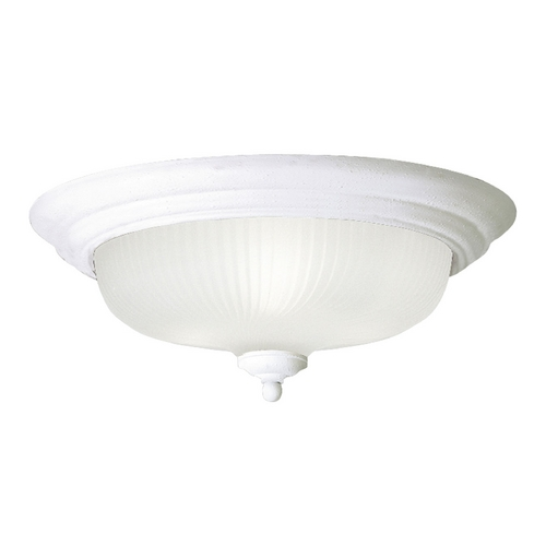 Progress Lighting Progress Flushmount Light with White Glass in Textured White Finish P3538-30