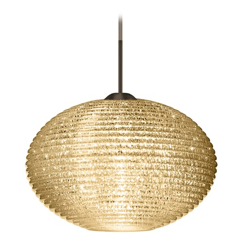 Besa Lighting Besa Lighting Pape Bronze LED Pendant Light with Globe Shade 1JT-4912GD-LED-BR