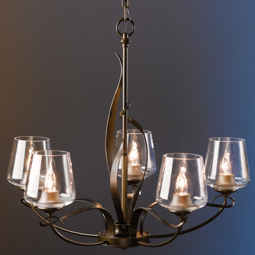 Hubbardton Forge Lighting Hubbardton Forge Lighting Flora Bronze Chandelier 103040-SKT-05-ZM0236