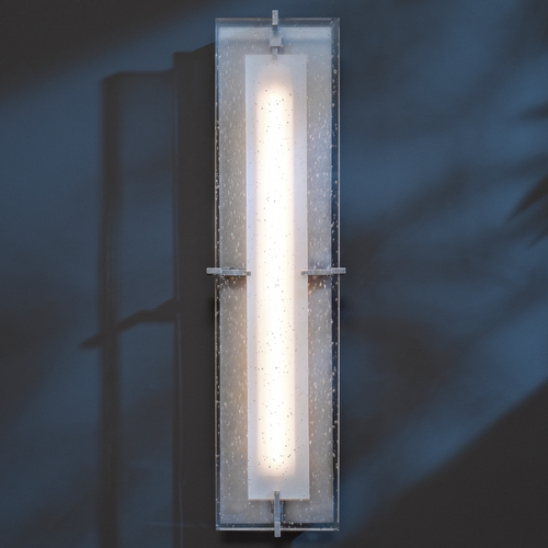 Hubbardton Forge Lighting Hubbardton Forge Lighting Ethos Burnished Steel LED Outdoor Wall Light 308015D-08-I397
