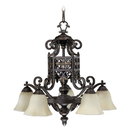 Quorum Lighting Quorum Lighting Marcela Oiled Bronze Chandelier 6431-5-86