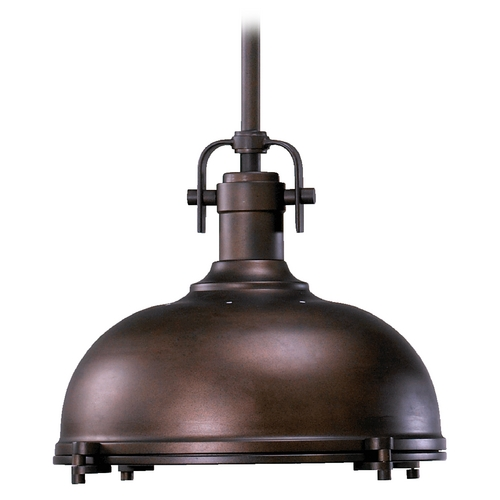 Quorum Lighting Farmhouse Pendant Light Oiled Bronze by Quorum Lighting 804-17-86