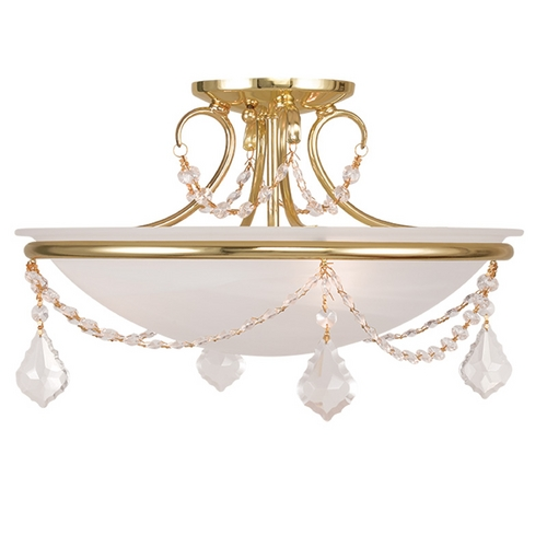 Livex Lighting Livex Lighting Chesterfield/pennington Polished Brass Semi-Flushmount Light 6524-02