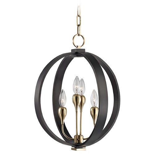 Hudson Valley Lighting Mid-Century Modern Orb Chandelier Bronze 4-Lt by Hudson Valley 6716-AOB