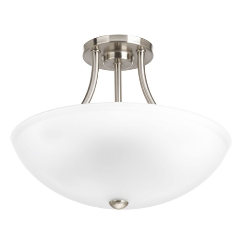 Progress Lighting Progress Lighting Gather Brushed Nickel Semi-Flushmount Light P3748-09