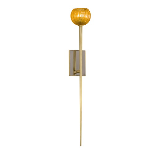 Corbett Lighting Mid-Century Modern Sconce Gold Leaf Merlin by Corbett Lighting 232-11