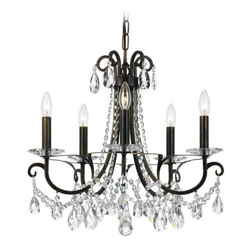 Crystorama Lighting Crystorama Lighting Othello English Bronze Crystal Chandelier 6825-EB-CL-MWP