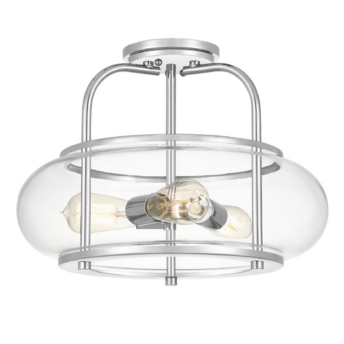 Quoizel Lighting Quoizel Lighting Trilogy 3-Light Polished Chrome Semi-Flushmount Light TRG1716C