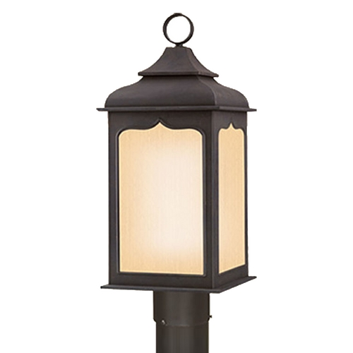 Troy Lighting Post Light with Clear Glass in Colonial Iron Finish PF2015CI