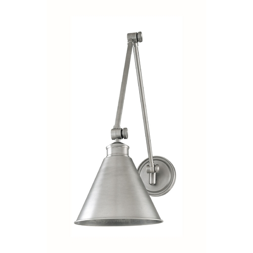Hudson Valley Lighting Swing Arm Lamp in Antique Nickel Finish 4721-AN